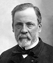 Louis Pasteur prouve que la génération spontanée n'existe pas. Source: wikipédia.