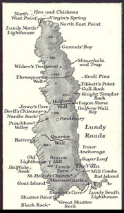 Map of Lundy Island.