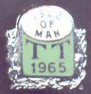 The Isle of Man 1965 TT Badge.