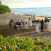 Beach wedding at Villa Playa Maria