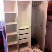 CLOSET MODULAR Closet con cajonera, repisas, zapatera y barras de colgar ropa