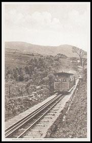 Steam Train Ascending Mount Snowdon.