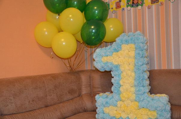 Единичка для первого дня рождения своими руками 42