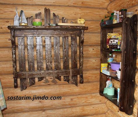 мебель под старину из дерева фото