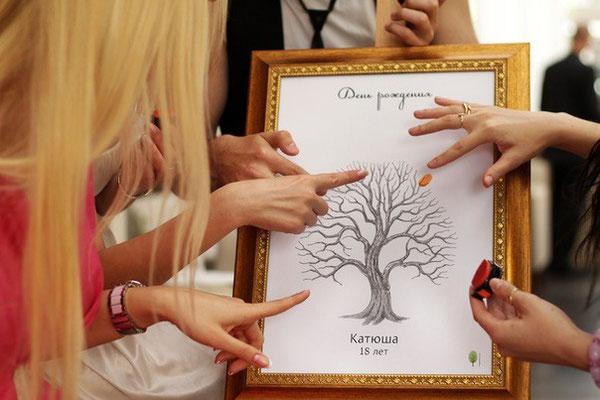 Дерево поздравлений на свадьбу 4