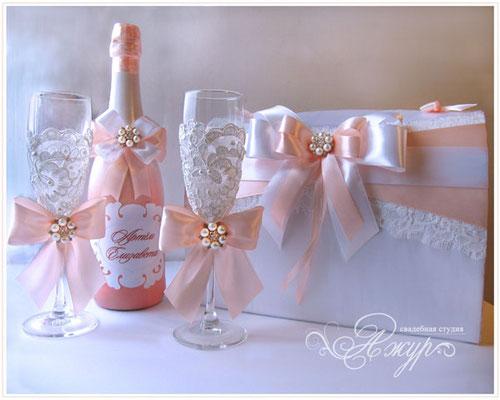 Свадебные аксессуары своими руками в персиковом цвете 80