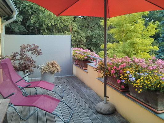 die Terrasse ist herrlich