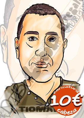 Caricatura individual cabeza y hombros por 10€ a todo color