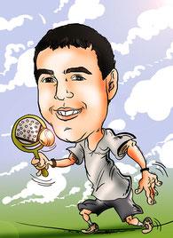 Caricatura personalizada online de fotografías individual, por 20€