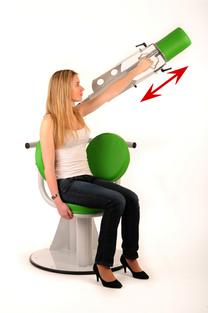 SCAPULEO : Position de trvail avec rotation médiale non douloureuse associée