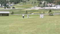 A wicket falls at 2012 Zuoz cricket festival