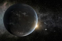 Artist's impression of Kepler-62f, a potential super-Earth in its star's habitable zone. (Credit: NASA)