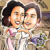 Caricatura de pareja: 40€