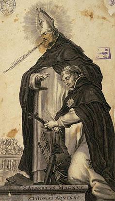 San Alberto Magno con su discípulo Santo Tomás de Aquino.