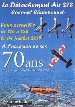 Reportage Meeting Aerien ,70 Ans BA-278 Amberieu, Photos 2015