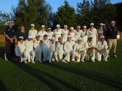 Swiss U14 and Thriplow U14 team