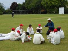 Swiss U14 coach Yeti Sinh and team