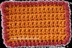 Cómo tejer el punto cangrejo a crochet