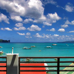 I would be so happy to have this view every morning!! Photo taken from the roof terrace @ A Place To Remember, El Nido, Palawan, Philippines 2013 © Sabrina Iovino | JustOneWayTicket.com