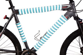 BikeWrappers: Aqua Blue Stripes