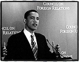 Obama au CFR, groupe de réflection américain qui décide de la politique étrangère du pays et qui est derrière le projet de l'Union Nord Américaine