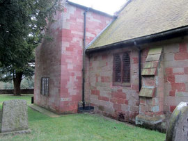 Bateman's vestry is on the left of the photograph.
