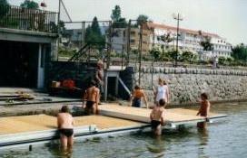 Installation ponton au club d'aviron de Gérardmer