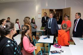 Remise des dictionnaires pour les élèves de 6ème du collège de Percy