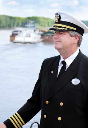 Bellevue's Mike Blitgen will pilot on the massice SS American Queen starting this season. The 1975 Bellevue graduate has worked on the river for decades.