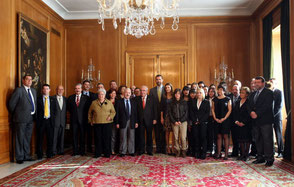 Audiencia con los Principes de Asturias de todos los galardonados