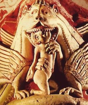 Capitel románico Colegiata Saint Pierre Chauvigny. SXII