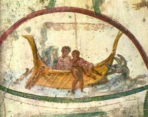 Jonás es engullido por la ballena y está durante tres dias y noches, despues es expulsado y da gracias, ejemplo de salvación