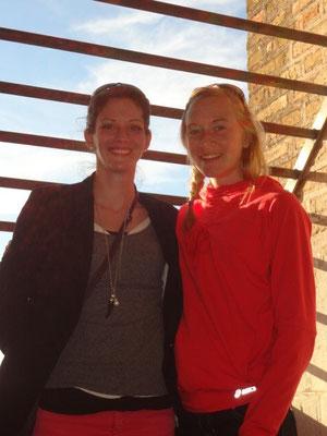 Doppel Staatsmeisterin Pamela und ich am Turm vom Sevilla Dom