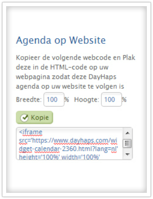kalender op website