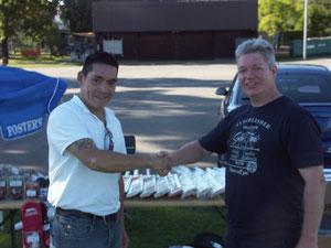 Simon Tan (SCT Trading) & Alex Mackay (SCA President)