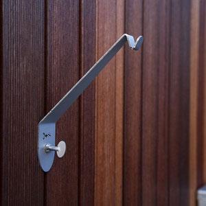 donk flatty wandhalter aus edelstahl f r blumenampeln blument pfe blumenk sten f r. Black Bedroom Furniture Sets. Home Design Ideas