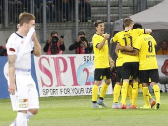 Dortmund machte das wichtige Auswärtstor, wirkte aber nicht über die ganze Spielzeit souverän. Foto: Gert Eggenberger