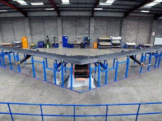 «Aquila», die Drohne mit der Flügelspannweite einer Boeing 737, soll das Internet auch in entlegene Gebiete mit schwacher Infrastruktur bringen. Foto: Facebook