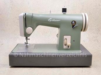 Gritzner Doria Typ 8, Flachbett Geradestich-Nähmaschine mit Anbaumotor, Hersteller: Gritzner-Kayser AG, Karlsruhe-Durlach (Bilder: Nähmaschinenverzeichnis)