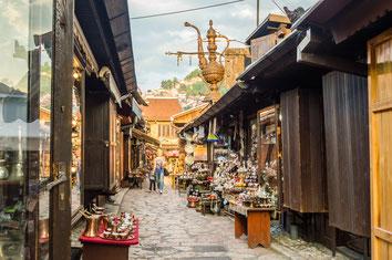 Sarajevo top things to do - Old Town - Copyright  Jason Drury