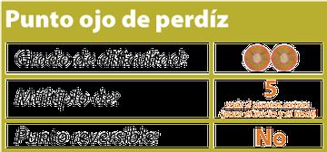 punto ojo de perdiz tejiendoperu.com