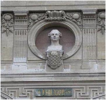 Busto de Philidor en el Teatro de la Opera de Paris