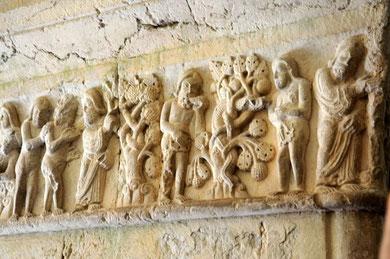 Claustro de la Catedral de Gerona. Adán y Eva
