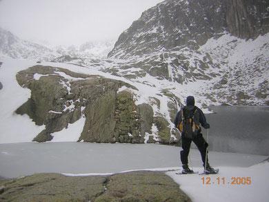paysage d'hiver, lac de Cambalès.