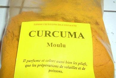 La poudre de Curcuma.