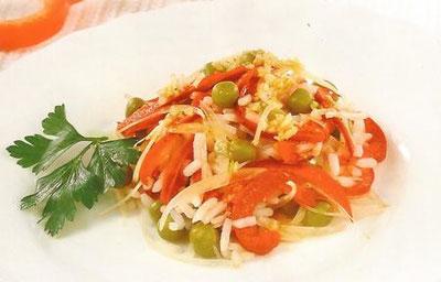 Как сделать салат из перца и риса 975