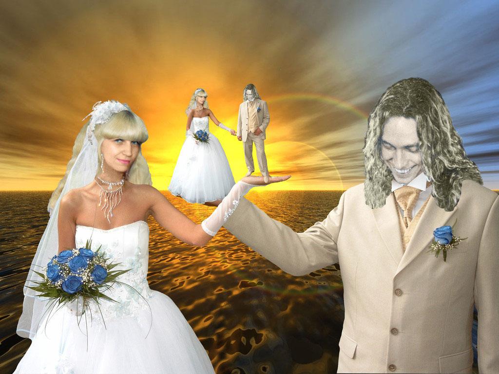 Как сделать свадебный фотомонтаж