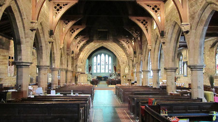 Looking east down the nave towards the chancel