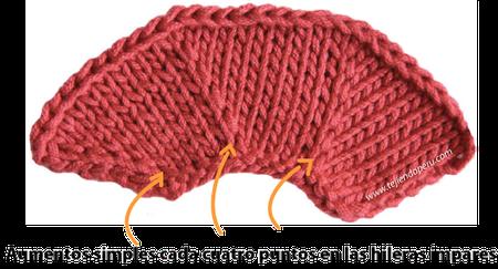 aumentos simples  dos agujas tejiendoperu.com