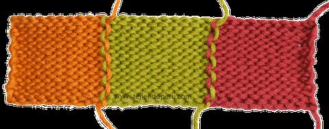 Cómo tejer en dos agujas o palillos: tejiendo con varios colores de lana